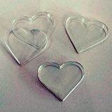 Event Blossom Blank Heart-Shaped Clear Acrylic Favor Boxes