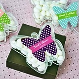 Adorable Personalized Butterfly-Shaped Clear Favor Boxes