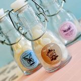 Vintage Design Personalized Baby Shower Miniature Glass Bottles