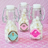 Event Blossom Personalized Baby Shower Miniature Glass Bottles