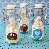 Splendid Personalized Miniature Glass Bottles with Artistic Design