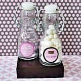 Personalized Mini Glass Bottles for Quinceañera/Sweet 16 Party