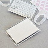 DIY Blank Acrylic Luggage Tags with Contact Information Cards