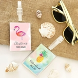 Event Blossom Personalized Tropical Beach Designs Acrylic Luggage Tags