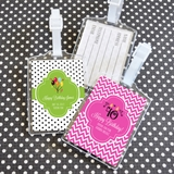 Event Blossom Personalized Birthday Designs Acrylic Luggage Tags