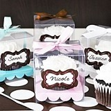 Adorable Personalized Clear Cupcake Boxes (Set of 12)