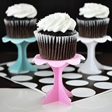 Scalloped-Edge Cupcake Pedestals (Set of 12)