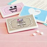 Vintage Personalized Baby Shower Miniature Mint Boxes