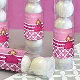 Adorable Pink Princess Party Personalized Candy Tubes