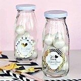 Match Your Theme Personalized Metallic Foil Miniature Milk Bottles