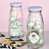 Personalized Metallic Foil Birthday Miniature Milk Bottles