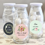 Event Blossom Personalized Mini Milk Bottles w/ Floral Garden Designs