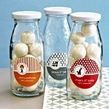 Personalized Children's Birthday Party Milk Bottles with Mod Labels