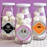 Adorable Personalized Birthday Party Mini Milk Bottles
