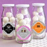 Event Blossom Adorable Personalized Birthday Party Mini Milk Bottles