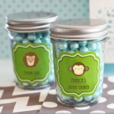 Adorable Personalized Baby Animal Miniature Mason Jars