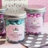Delightful Personalized Mini Baby Shower Mason Jars