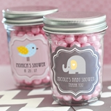 Event Blossom Delightful Personalized Mini Baby Shower Mason Jars