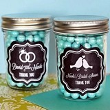 Chalkboard Wedding Personalized Miniature Mason Jars