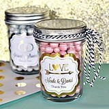 Match Your Theme Personalized Metallic Foil Miniature Mason Jars