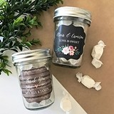 Event Blossom Personalized Floral Garden Mini Mason Jars