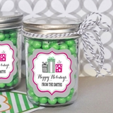 Personalized Holiday Party Miniature Mason Jars