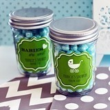 Personalized Miniature Mason Jars Personalized for Baby Showers