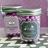 Personalized Miniature Mason Jars for Quinceanera and Sweet 16 Parties