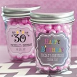 Personalized Miniature Mason Jars for Birthday Parties