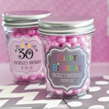 Personalized Miniature Mason Jars for Birthday Parties