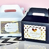 Personalized Metallic Foil Mini Gable Boxes (Set of 12)