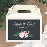 Personalized Mini Gable Boxes with Floral Garden Designs (Set of 12)
