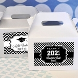 Personalized Graduation Mini Gable Boxes (Set of 12)