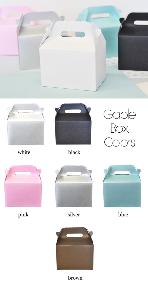 Event Blossom DIY Blank Mini Gable Boxes (Set of 12)