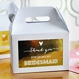 Metallic Foil Bridesmaid & Maid of Honor Thank You Boxes (Set of 8)