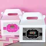 Personalized Birthday Party Mini Gable Boxes (Set of 12)