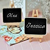 Rustic Chalkboard Placecards For Parties of Any Theme