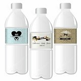 Vintage Design Personalized Water Bottle Labels for Baby Shower