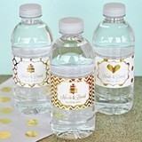 Personalized Metallic Foil Weatherproof Water Bottle Labels