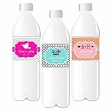 Choose Your Theme Personalized Weatherproof Water Bottle Labels