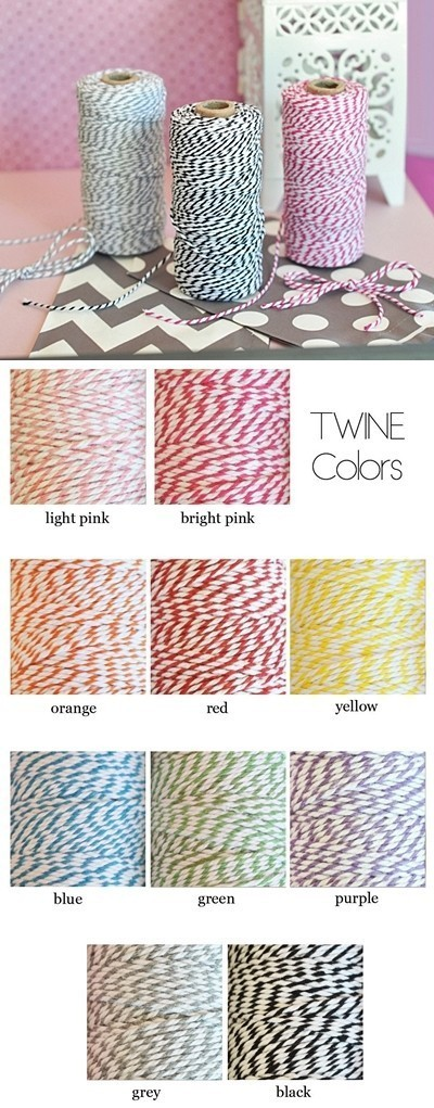 12-Ply Extra Thick Baker's Twine (10 Colors)