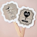 Shabby Chic Personalized Paddle-Shaped Fans