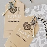 Seat Assignment Escort Cards Featuring the Key to Love