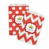 Personalized Circus Carnival Chevron & Dots Goody Bags (Set of 12)