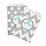 Personalized Winter Wonderland Party Goody Bags (Set of 12)