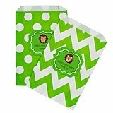 Personalized Jungle Safari Chevron and Dots Goody Bags (Set of 12)