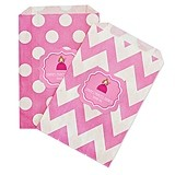 Personalized Princess Party Chevron and Dots Goody Bags (Set of 12)