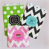 Choose Your Theme Personalized Chevron & Dots Goodie Bags (Set of 12)