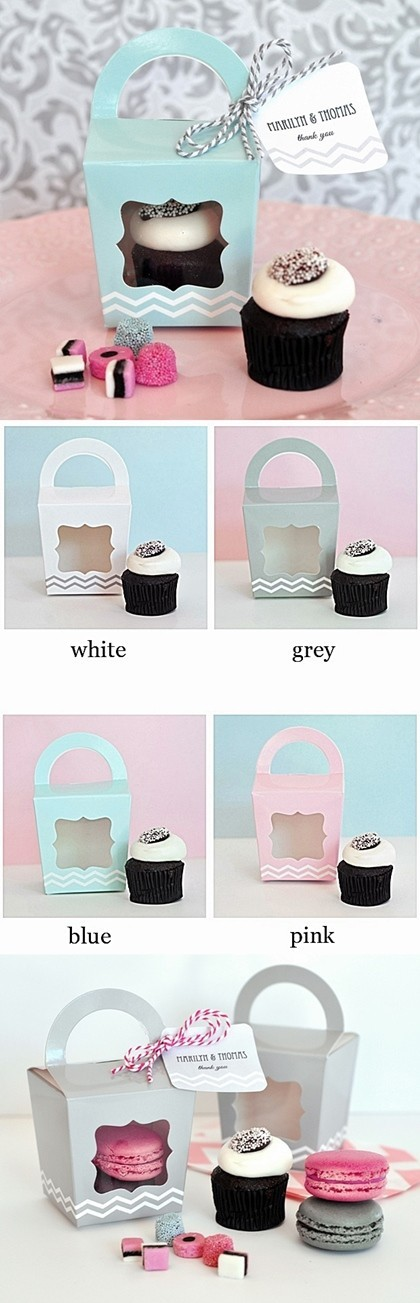Adorable Tote-Bag-Shaped Cupcake Boxes (Set of 12)