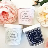 Personalized Custom Mini Ice Cream Containers (10 Label Colors)